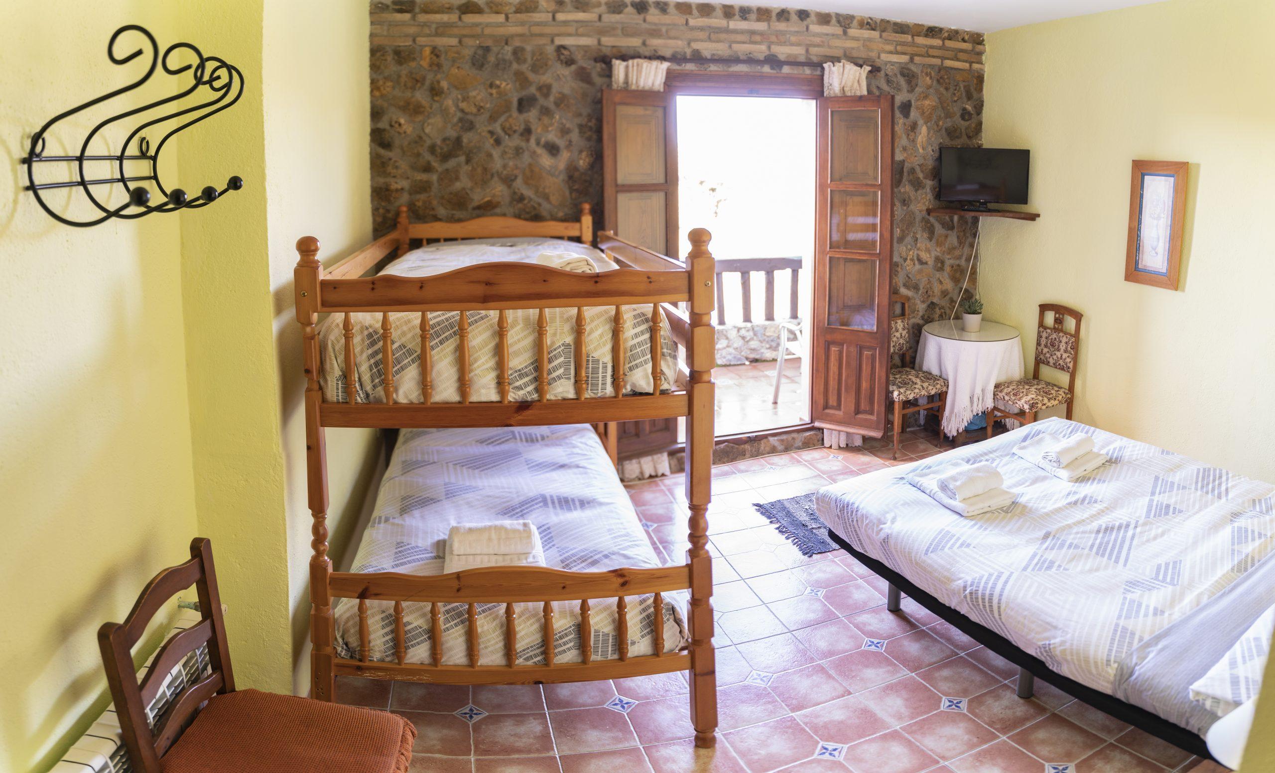 Habitación cuádruple Hotel rural Fuente La Teja