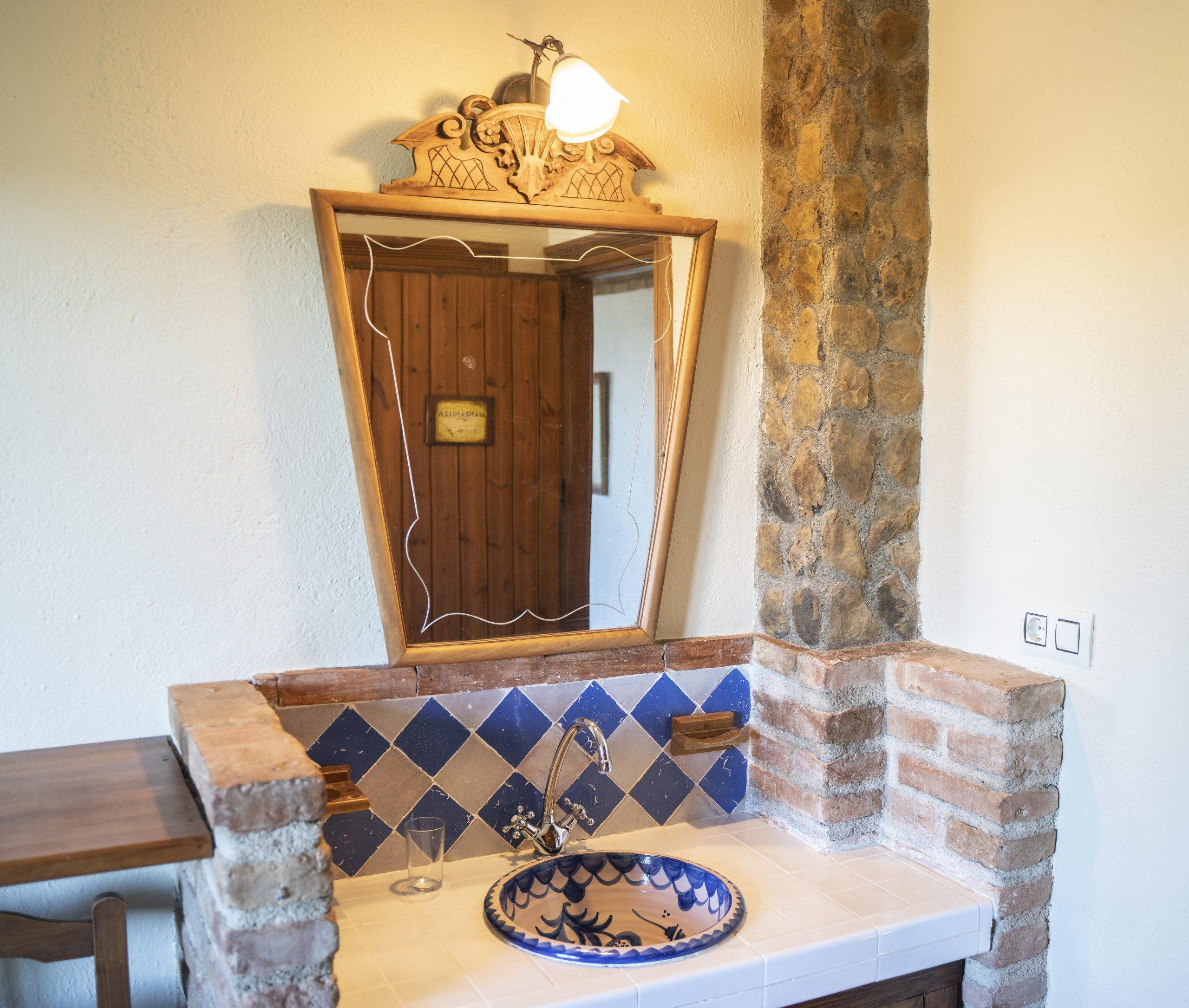Espejo habitación individual Hotel Rural Fuente La Teja