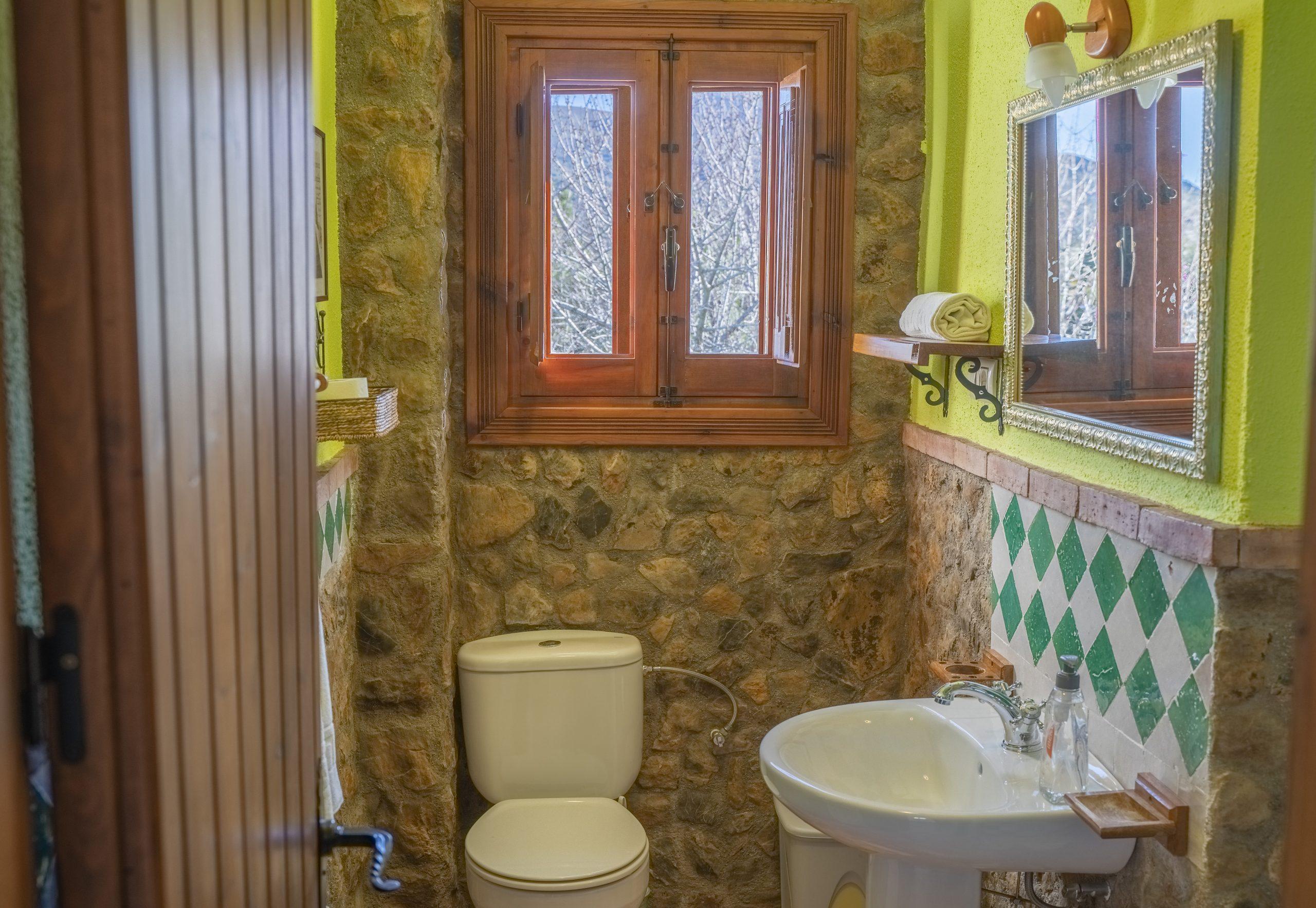 Baño habitación individual Hotel Rural Fuente La Teja