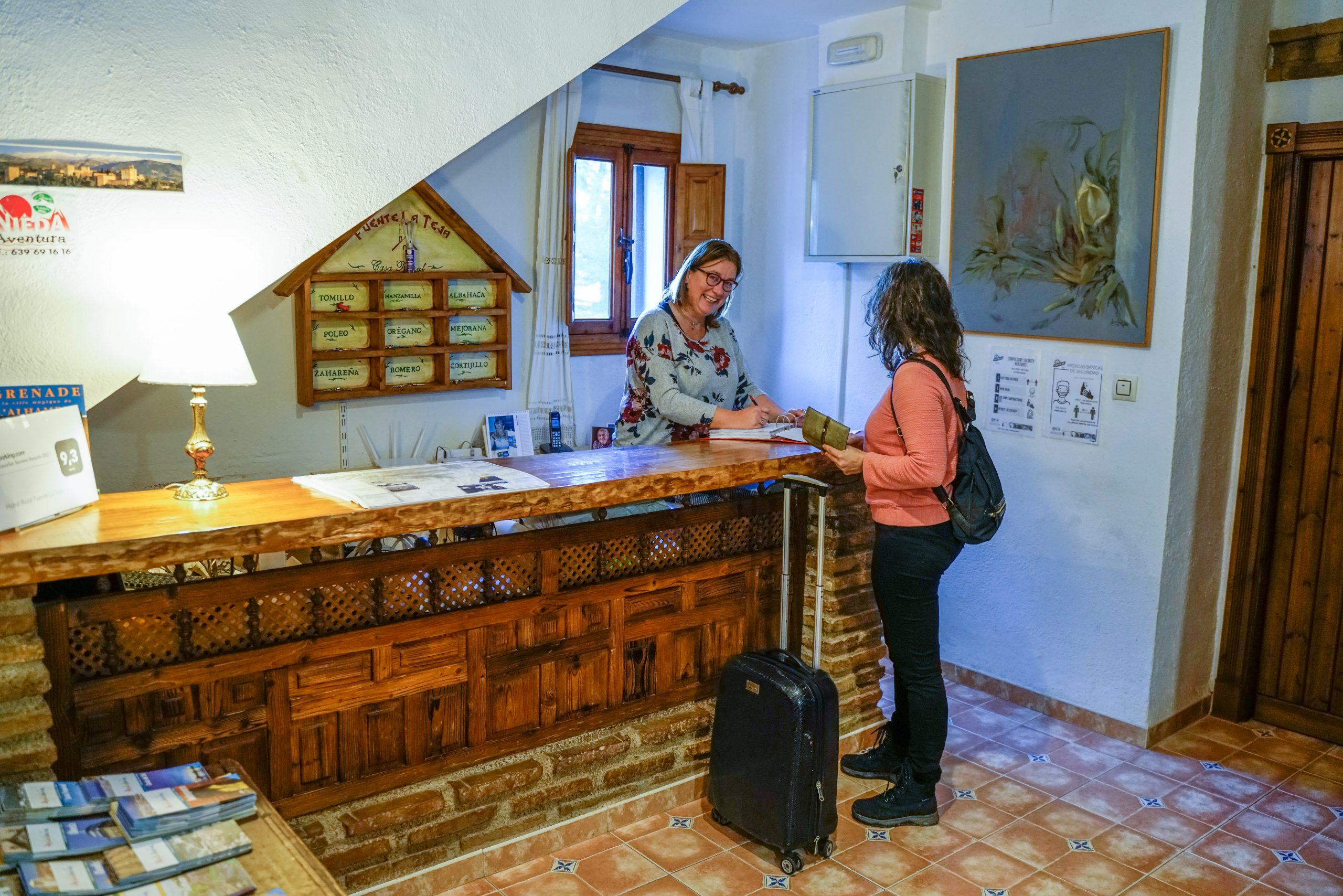 Recepción Hotel Rural Fuente La Teja